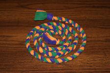 New 5ft. Secondary Colored Orange, Green, Purple Handmade Braided Fleece Cat Toy