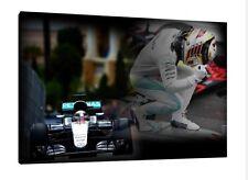 2016 Lewis Hamilton GP MONACO 30x20 pollici tela MERCEDES Foto Incorniciata f1 Print