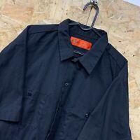 Vintage Dickies Workwear Work Short Sleeve Shirt Black USA Size XL Mens