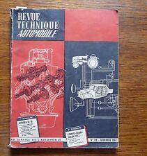 Revue technique automobile étude complète Citroën ID 19 (év 1961-1963)  nov 1962