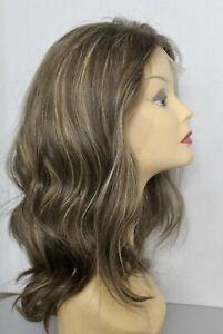 Kosher wig 20 inch blonde european100% human hair brown&gray LACE TOP AHUVA WIGS