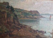 Joseph Eysseric (1860 -1932) . Brehat. Huile/ carton Huile/toile v131