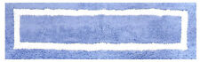 """Better Trends Hotel Collection Bath Rug 20""""x60"""" Blue/White, REVERSIBLE WASHABLE"""