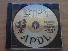 New, APDL DTP 1 Clipart CD for Acorn RISC OS computers