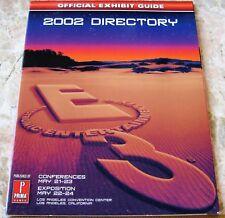 E3 Game Expo 2002Directory Promo Guide Book Nintendo GameCube SEGA Sony PS2 XBOX
