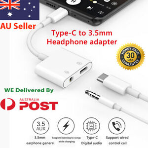 USB C Type-C to 3.5mm AUX Headphone Adapter Jack Earphone Cable Converter calls