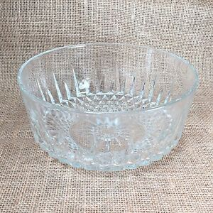 "Arcoroc Glass Sunburst Design Round 7.75"" Serving Dish Bowl Made in France"