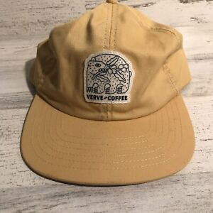 Verve Coffee Company Supreme Style Strap Back Hat Cap Yellow Gold