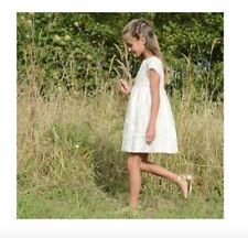 BONPOINT COUTURE GIRLS GOLD TULLE FLORAL ELEGANCE DRESS 4 YEARS