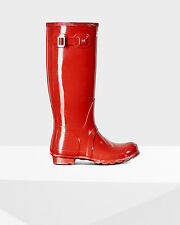 Women's Original Tall Gloss Rain Boots Military Red