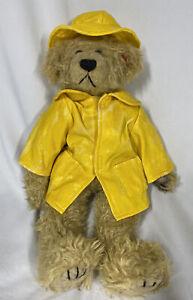 "❤️Vintage 13"" Paddington Bear 1993~Ty~ Yellow Raincoat- Has Tear-Back Head"