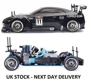 NITRO RC Car 1/10th Scale Two Gears Remote Control Car - With STARTER KIT & FUEL