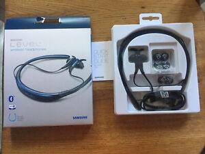 Genuine Samsung Level U Wireless Headphones Around neck design blue Bluetooth