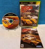 Sega GT 2002 (Microsoft Xbox, 2002) with Manual - Tested & Working