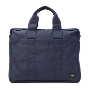 PORTER Yoshida Bag 592-07506 Briefcase SMOKY Navy Fast Shipping From Japan EMS