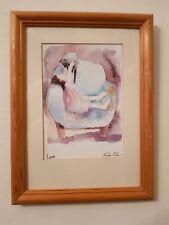 """Vintage Erika Oller Signed Print """"Love"""""""