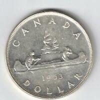 CANADA 1953 NSF SWL VOYAGEUR SILVER DOLLAR QUEEN ELIZABETH II SILVER COIN