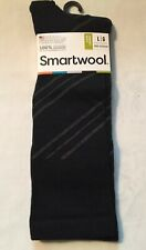 Smartwool Mens Barber Pole Crew Socks In Black-Large-Great Dress Sock-NWT