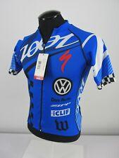 ZOOT Men's S Blue White Ultra Cycle Custom Jersey Short sleeve