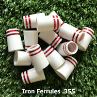 Tip Size .355 Custom White Golf Ferrules For Taper Tip Iron and Wedge