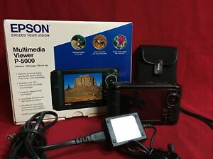Epson P-5000 Multimedia Storage Viewer, 80GB Hard Drive