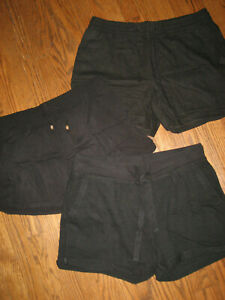 Lot womens shorts large Old Navy Caslon black pull on elastic waists pockets