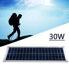 30W 12V Dual USB Flexible Solar Panel Battery Charger Favor Car Kit Boat Z3U1