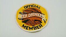 "Official Beer Drinkers Member Patch 3 1/2"" diameter"