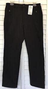 NWT Geval Womens M Black Winter Ski Pants Athletic Fleece Lined Pockets Active