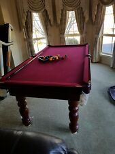 Red colour Billard Pool Table in mint condition