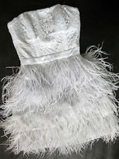 Feather dress white and black