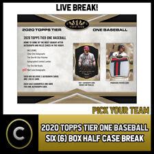 2020 TOPPS TIER ONE BASEBALL 6 BOX (HALF CASE) BREAK #A933 - PICK YOUR TEAM