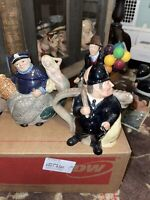 Royal Doulton Character Teapots & Balloon Seller Old Salt, Police/Felon