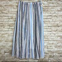 Zac & Rachel Multicolored Blue Maxi Skirt Flare Women's Size Small NEW