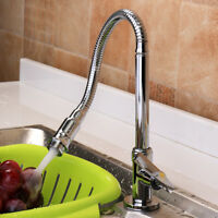 360° Rotation Faucet Chrome Brass Flexible Spring Kitchen Basin Sink Cold Tap