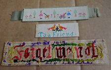 Old Friendship Needlepoints Forget Me Not Lot Of 3