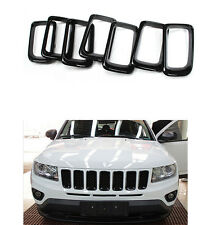 For Jeep Compass 2011-2016 Front Black Grille Grill Trim Cover Insert