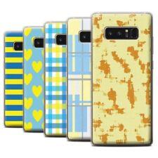 Étuis, housses et coques jaunes Pour Samsung Galaxy Note8 en silicone, caoutchouc, gel pour téléphone mobile et assistant personnel (PDA)