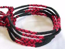 Lot 5 Bracelets Bresiliens de l'Amitié Macramé coton Friendship noir rouge