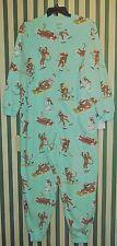 NWT Nick & Nora Downhill Monkeys One Piece Fleece Pajama 100% Polyester Size XXL