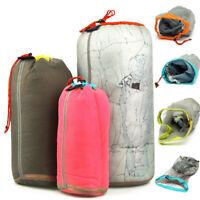 Ultralight Drawstring Mesh Stuff Sack Storage Bag for Tavelling Camping   √ !*