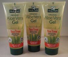 Aloe Pura orgánicos Gel De Aloe Vera + Árbol De Té 200ml Tres Tubos