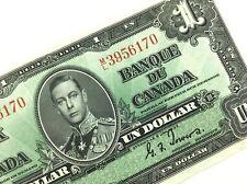 1937 Canada One 1 Dollar Circulated Canadian Gordon Towers Banknote ML Q817