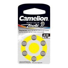 6 embalar pilas Audífono A13 para aparatos auditivos Camelion