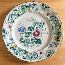 Francis Morley Transferware Blue Green Multi Color Plate Aurora Pattern England