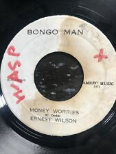 "ERNEST WILSON - Money Worries, Bongo Man, 1973 reggae vinyl 7"""