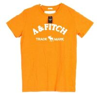 A&Fitch Abercrombie & Finch Shirt Medium Mens Formal Designer Top Orange M A&F