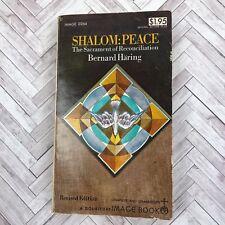 Vintage Catholic Book 1969 Paperback Shalom Peace Bernard Haring Priest Estate