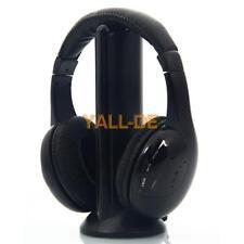 Neue 5 in 1 drahtloser Kopfhörer-Kopfhörer Schwarz für MP3 / MP4 PC TV CD FM Rad