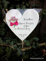 Memorial heart-Mothers Fathers Day/Special Mum Grave Ornament-Personalised- 15cm